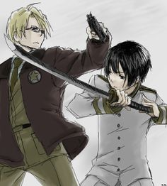 APH: America versus Japan by CATGIRL0926.deviantart.com on @deviantART