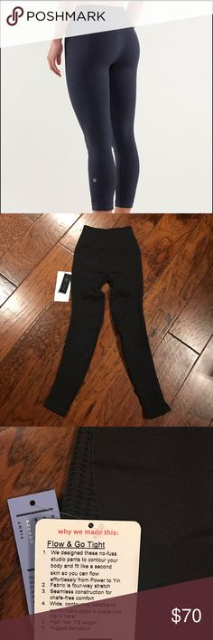 Flow & Go Tight Pants New! Tag came off, but these have never been worn! Just tried on :) Rip tag still crisp & attached. Bundle & save! No trades please 💜 lululemon athletica Pants Leggings