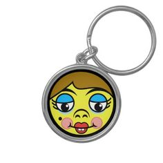 Makeover Face Keychain  $18.45  by templeofswag  - cyo customize personalize unique diy