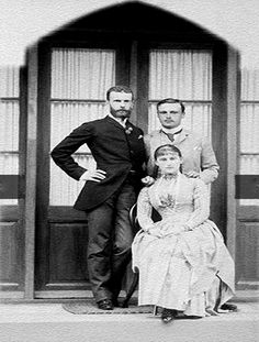 Grand Duke Sergei, Grand Duchess Elizabeth Feodorovna and Ernie of Hesse.