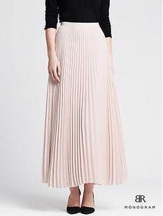 BR Monogram Pleated Crepe Patio Skirt