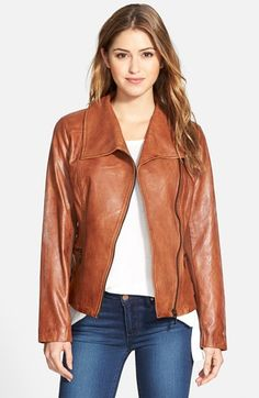 Bernardo Leather Moto Jacket (Regular & Petite) available at #Nordstrom