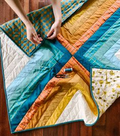 fabric crafts unique The Sugar POP quilt pattern i - fabriccraftsde Colchas Quilting, Quilting Projects, Modern Quilting Designs, Quilting Ideas, Sewing Patterns Free, Free Sewing, Sewing Hacks, Sewing Tips, Sewing Tutorials