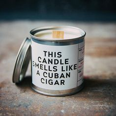 Cuban Cigar Tobacco scented candle. Birthday gifts for men