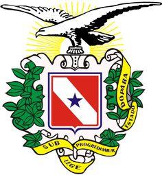 Brazilian Coat of Arms - State of Pará - O Brasão ou Escudo de Armas do Estado do Pará foi criado em 9 de novembro de 1903, pela lei estadual de nº 912, que estipulou a criação de um Brasão (ou Escudo) de Armas para o Estado.  Os seus autores são: José Castro Figueiredo (arquiteto) e Henrique Santa Rosa (Historiador e Geógrafo).