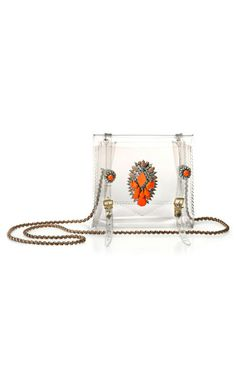 a really cool take on the transparent purse trend by Shourouk. it's like a piece of jewellery itself!