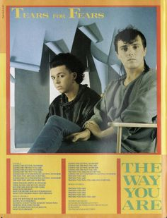 """Tears For Fears - The Way You Are, From 1983 and not included on their """"Greatest Hits '82-'92"""""""