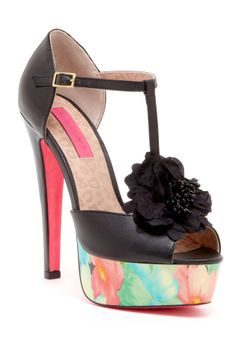 Betsey Johnson Rubyyy Platform Sandal (My mom would love these!)