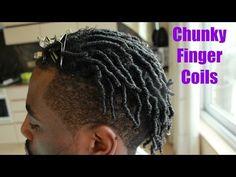 Men Hair : How To Do Chunky Finger Coils - Tutorial - YouTube