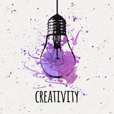 Vector illustration with hanging grunge light bulb with watercolor. Vector illustration with hanging grunge light bulb with watercolor splash. Idea and creativity concept. Cool Art Drawings, Art Drawings Sketches, Easy Drawings, Drawing Ideas, Drawing Art, Light Bulb Drawing, Light Bulb Art, Modern Hipster, Hipster Art