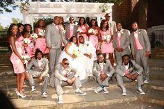 Pink/grey chucks wedding the other barn columbia md