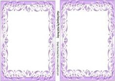 Pretty A5 Purple scroll card front and insert on Craftsuprint - Add To Basket!