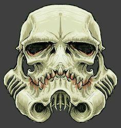 Awesome storm trooper skull art i found last night