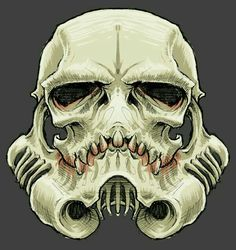 Awesome storm trooper skull art i found last night