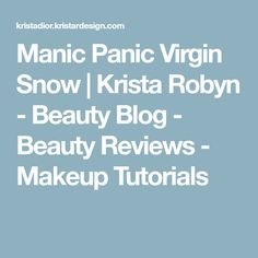38 Best Manic Panic Virgin Snow Images Bleached Hair