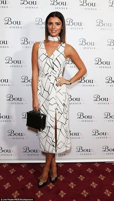 Stylish star: Lucy Mecklenburgh, 25, showed off her sensational figure at the Boux Avenue ...
