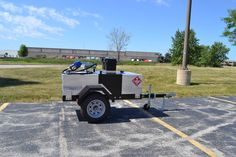 Our Economy 110 Electric portable fuel trailer. Not only can operators easily transport 110 gallons of gasoline, diesel, or other fuel types, but they can quickly pump it out and fill up. http://www.gastrailer.com/equipment/economy-110-electric/ #economy110electric #gastrailer