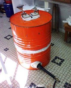 Nuno Mota: Construção de um forno a gás para alta temperatura Forno A Gas, Pottery Kiln, Raku Kiln, Ceramic Tools, O Gas, Metal Casting, Projects To Try, Arts And Crafts, Clay
