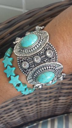 Boho Chique -bracelete turquesa semijoias,joias,bijuterias | enjoei :p