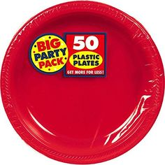 Amscan Big Party Pack 50 Count Plastic Lunch Plates, 10.5... https://www.amazon.com/dp/B001QFBPXE/ref=cm_sw_r_pi_dp_U_x_lvHrBbGDKA91N