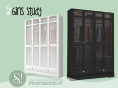 Girls Studio Armoire by SIMcredible! Mods Sims, Sims 4 Game Mods, Sims 4 Tsr, Sims Cc, Sims 4 Family, Muebles Sims 4 Cc, The Sims 4 Packs, Sims 4 Collections, Sims 4 Bedroom