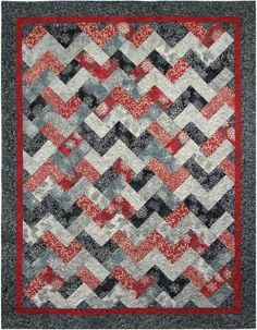 Hoffman Fabrics free quilt pattern 2014 Winter Peaks