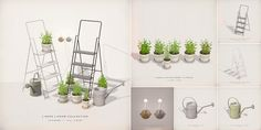 sl secondlife originalmesh fameshed keke potted plants watering cans wall candles step ladders Opens February 1st click to Fameshed [ keke ] grow collection for Fameshed