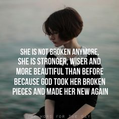 He can use your brokenness to show how He mends the broken-hearted. He can use you, no matter what. http://www.mwordsandthechristianwoman.com/