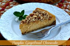 Mommy's Kitchen - Home Cooking & Family Friendly Recipes: Pumpkin Gingerbread Cheesecake {Gingerbread Oreo Cookie Crust}