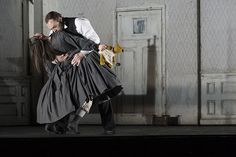 Anna Christy as Lucia and Brian Mulligan as Enrico in the Canadian Opera Company production of Lucia di Lammermoor.