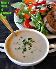 Somer's Vegan Cream of Mushroom Soup. Vegan Gluten-free Oil-free Recipe March 6, 2013 By Richa 38 Comments