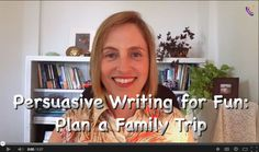 If you're planning a summer vacation, here's a way to get your kids involved and work some writing practice into the mix too.  #homeschool #summer #writing  from sponsor @lily http://www.fortuigence.com/fortuigence-online-education/homeschool-persuasive-writing