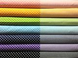 "You get one fat quarter (18"" x 22"") of each color Gingham and Dot Duo."