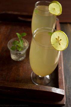 Nimbu Pani - Indian Lemondade -  is always made with fresh lemon juice and spiced with some black salt and some roasted cumin powder.