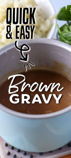 Learn how to make easy brown gravy from scratch without drippings. Perfect for mashed potatoes, meatloaf, or any thing you like to serve gravy over! Brown Gravy Recipe Easy, Homemade Brown Gravy, Easy Beef Gravy Recipe Without Drippings, Gluten Free Beef Gravy Recipe, Recipe For Gravy, Southern Brown Gravy Recipe, Homemade Beef Gravy, Meatloaf With Gravy, Gravy From Scratch