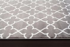 Amazon.com: 9070 Gray Moroccan Trellis 5'2x7'2 Area Rug Carpet Large New: Kitchen & Dining