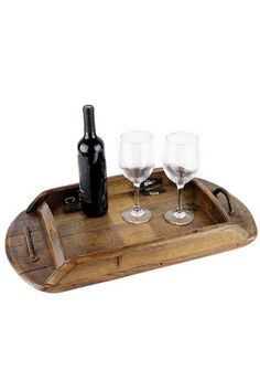 Shop this Unique Napa Valley Reclaimed Wine Barrel Serving Tray. Handcrafted southern inspired goods. Perfect for any gift occasion.