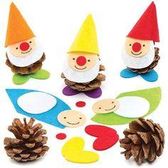 Zwerge basteln mit Kindern Ile ilgili görsel sonucu - Todo O Que Debes Saber Sobre Kindergarten Kits For Kids, Fun Crafts For Kids, Craft Activities For Kids, Christmas Crafts For Kids, Creative Crafts, Preschool Crafts, Diy And Crafts, Pine Cone Art, Pine Cone Crafts