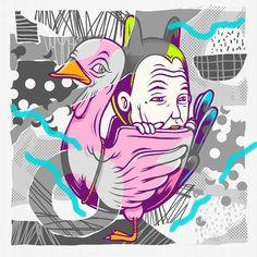 Collaboration with bang @paypaypow alias bang pay BIP aku gemuk lagi makasih yah bang pay  #artwork #illustration #collaboration #collabswithfriends by muklay