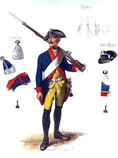 SOLDIERS- Menzel: SYW- Prussia: Prussian Infantry Regiment Prinz Ferdinand No 34, by Adolph Menzel.