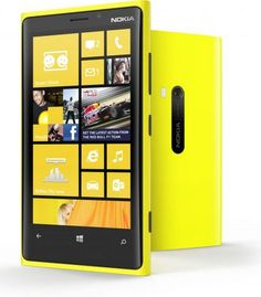 Nokia Lumia 920 Yellow front and back