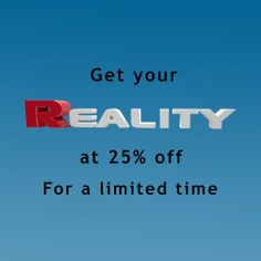 Get the best solution for photo-realistic art at 25% off. For a limited time. http://preta3d.com/reality