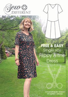 Flippy A-line Dress – FREE SEWING PATTERN