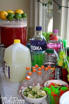 Summer party bar
