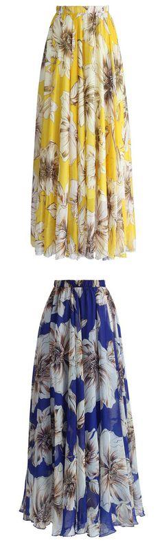 Chiffon Maxi Skirts for Parties. Chicwish.com  AUS