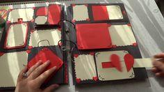 Anı Defteri- Kırmızı Krem Uyumu 12 sayfa -Scrapbook