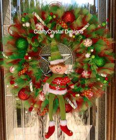 Buddy the Elf Christmas Wreath on Etsy, $85.00