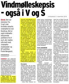 Mens FN's klimapanel i København fremlægger rapport der fortæller, at vore børn og børnebørn vil opleve temperatur stigninger på 3,7-4,8 °C forsøger kræfter i Randers Byråd - på trods af vedtagne planer - at begrænse erhvervsvirksomheders udvikling ved at begrænse højde af vindmøller til 100 m. Svarer til, at vi dikterer en erhvervsvirksomhed at købe fem år gamle maskiner i stedet for nyeste udstyr. De nye møller vil støje mindre end nuværende.