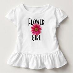 Flower Girl Pink Gerbera Daisy Wedding T-shirt