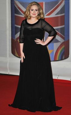 Adele's Best Looks  If it ain't broke, don't fix it, right? The British songstress wore a black A-line gown—her favorite silhouette—to the 2012 Brit Awards in London.